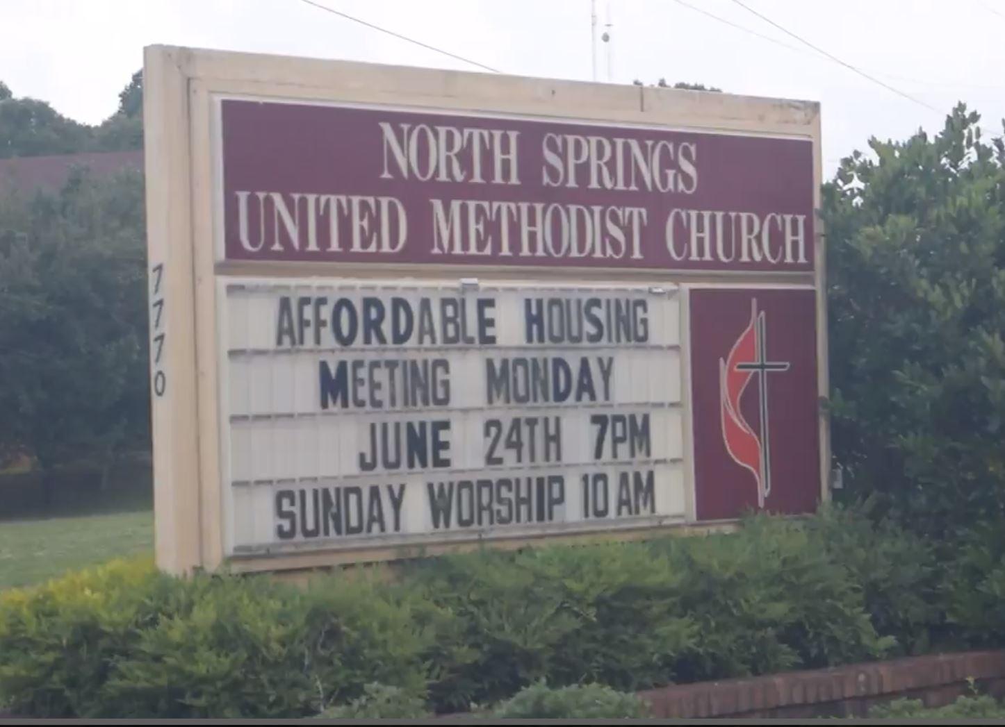 North Springs United Methodist Church Sign